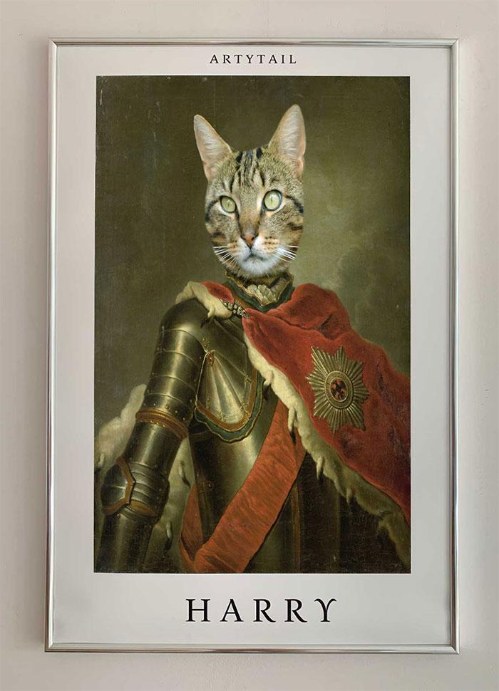 ridder met mantel poster